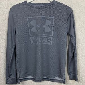 Boys Under Armour Gray Athletic Top - M
